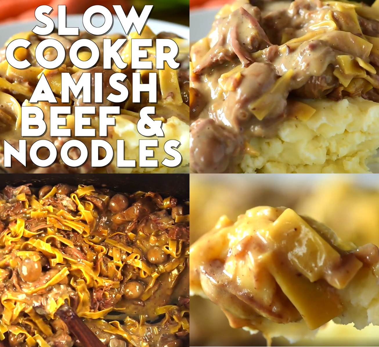 Slow Cooker Amish Beef and Noodles