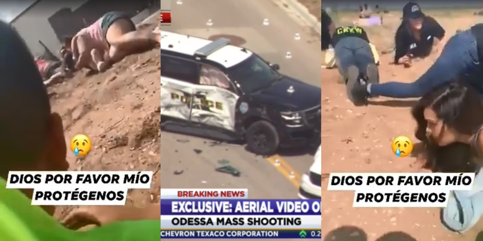 Frightening Video: Family Takes Cover During Odessa Texas Shooting