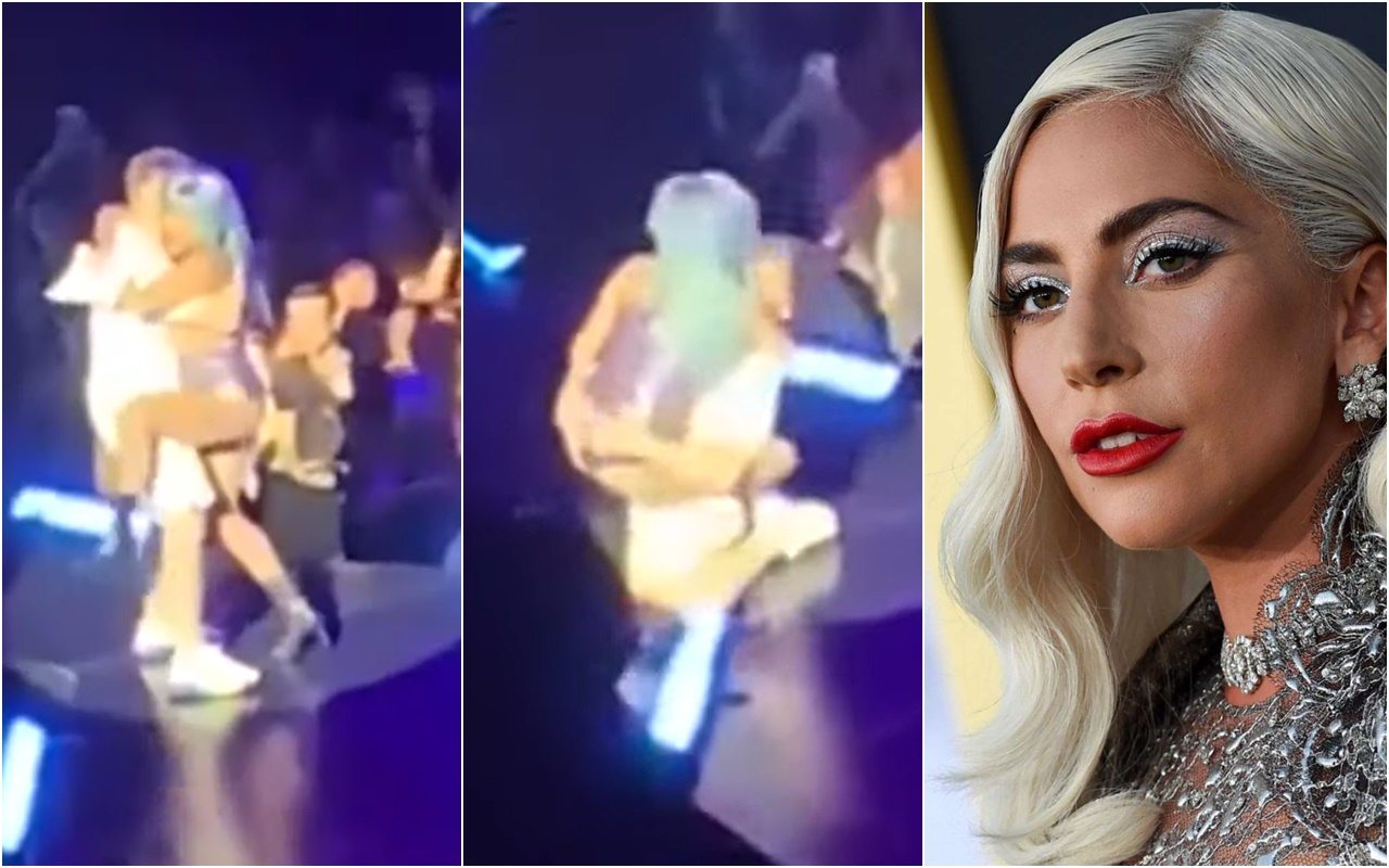 VIDEO: Lady Gaga and A Fan Fall Off Stage During Her Las Vegas Show
