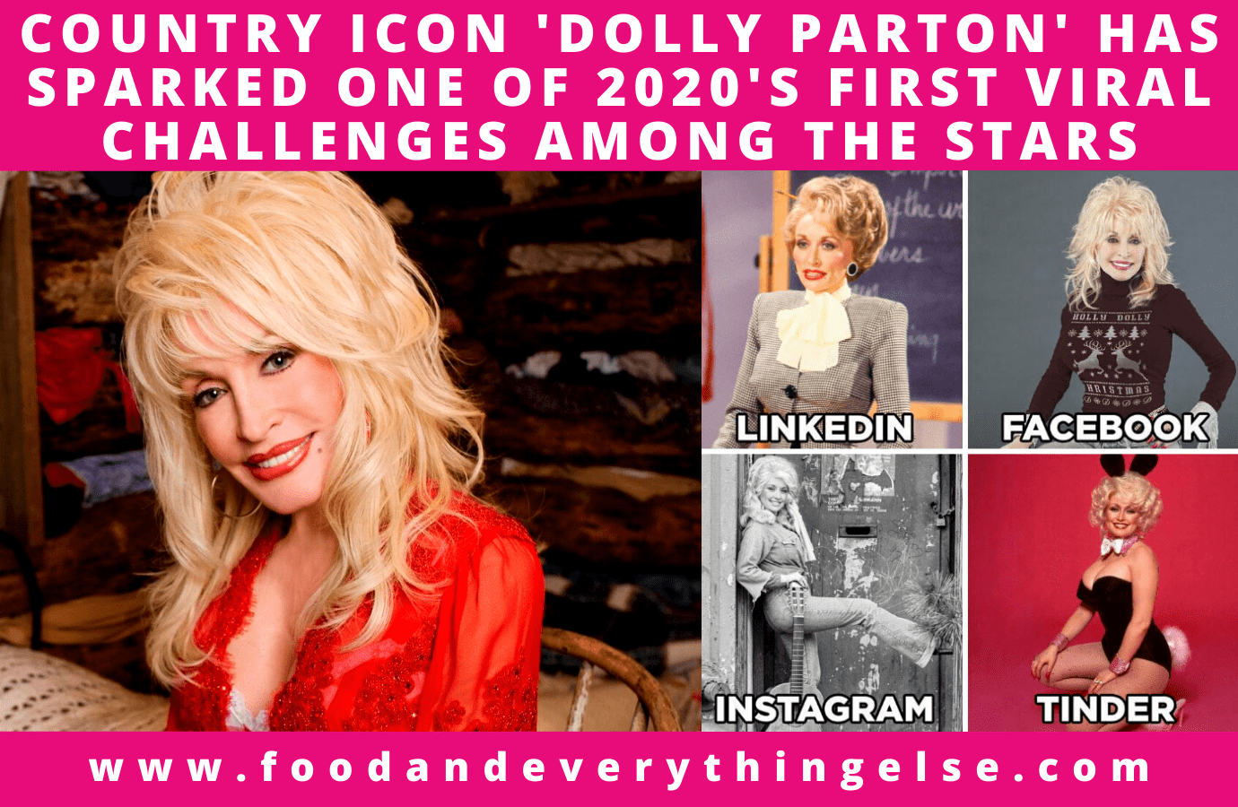 Dolly Parton sparks one of 2020's first viral challenges among the stars