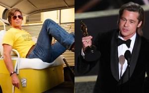 Brad Pitt Wins His First Acting Oscar