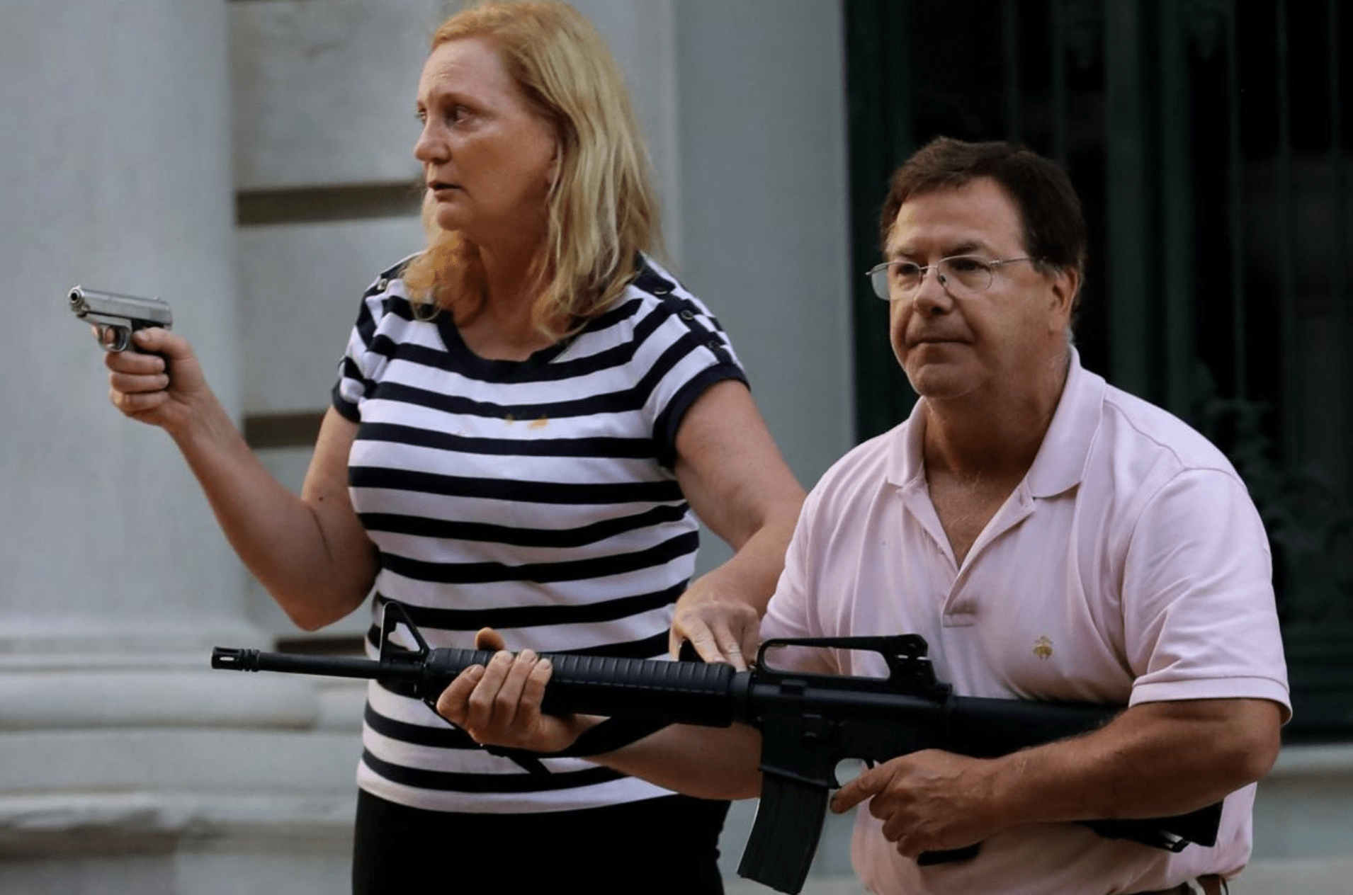 St. Louis Couple Who Pointed Guns At Protesters Have Been Charged With A Felony