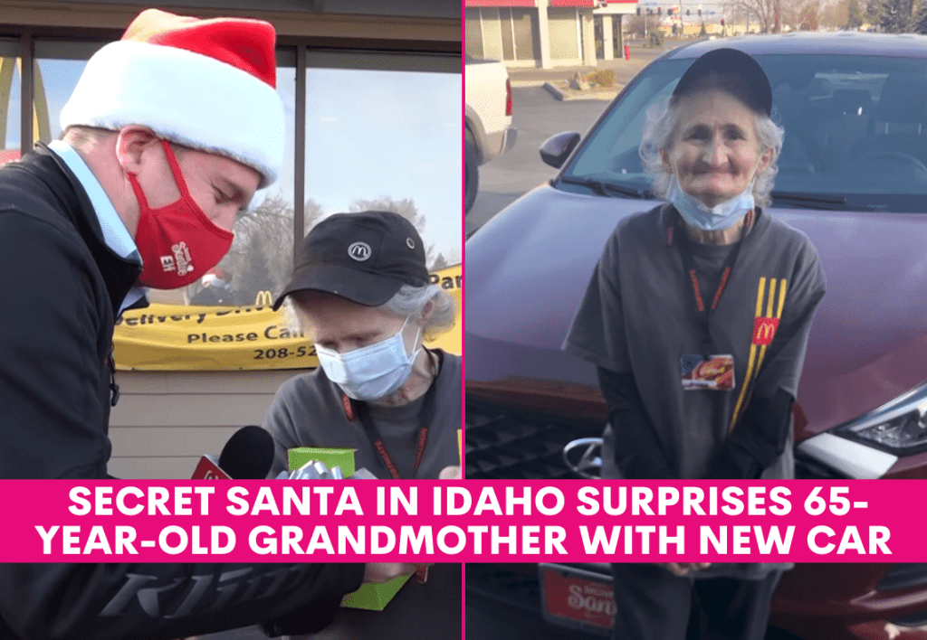 Secret Santa in Idaho Surprises 65-Year-Old Grandmother With New Car
