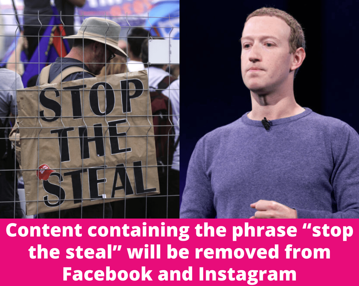 Facebook Will Remove All Content With Phrase 'Stop The Steal' Ahead Of Inauguration Day