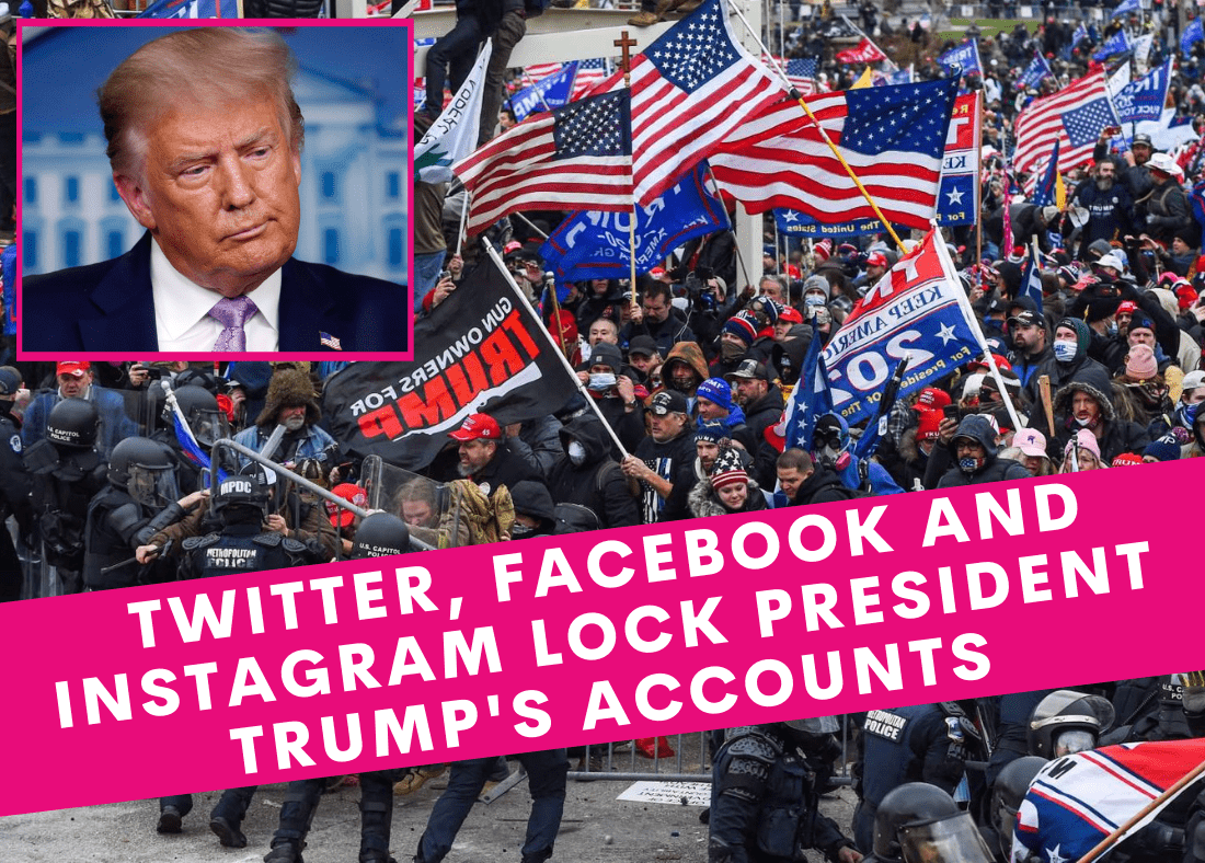 Twitter, Facebook and Instagram lock President Trump's accounts for 24 hours