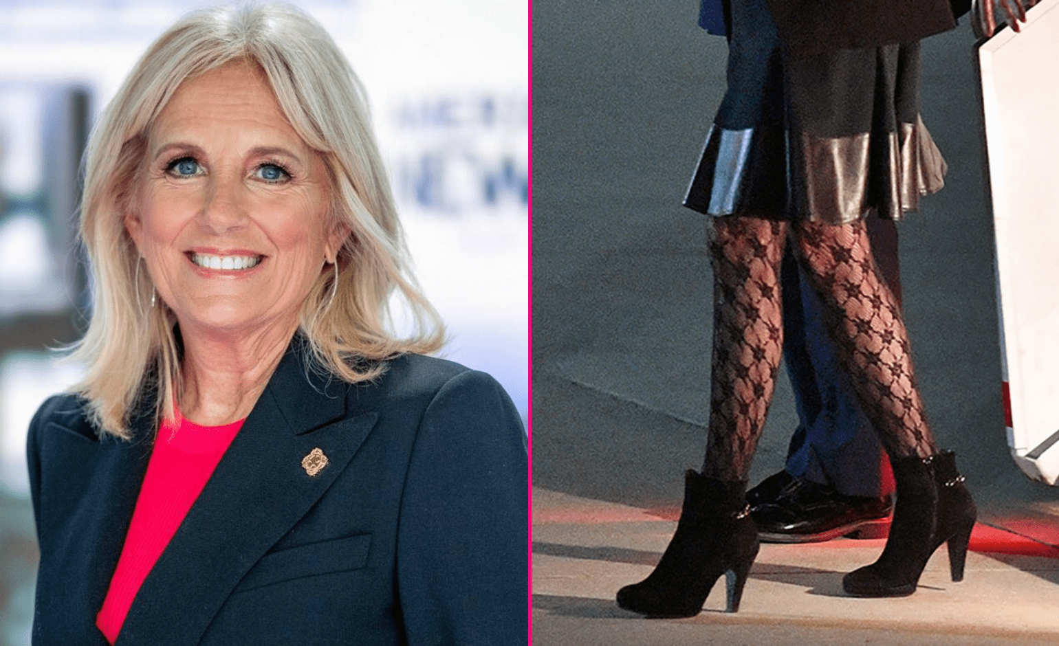 Jill Biden Broke Twitter Wearing a Pair of Black Fishnet Tights