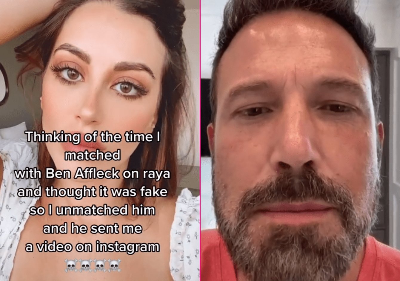 Ben Affleck responds to woman after she rejects him on data app