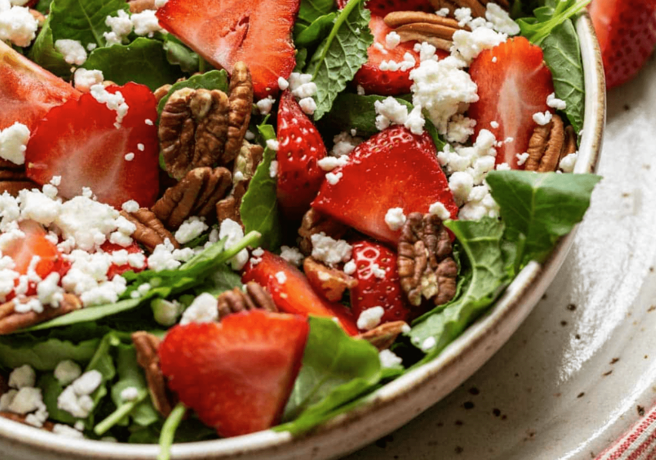 Strawberry and Feta Salad with Pecans