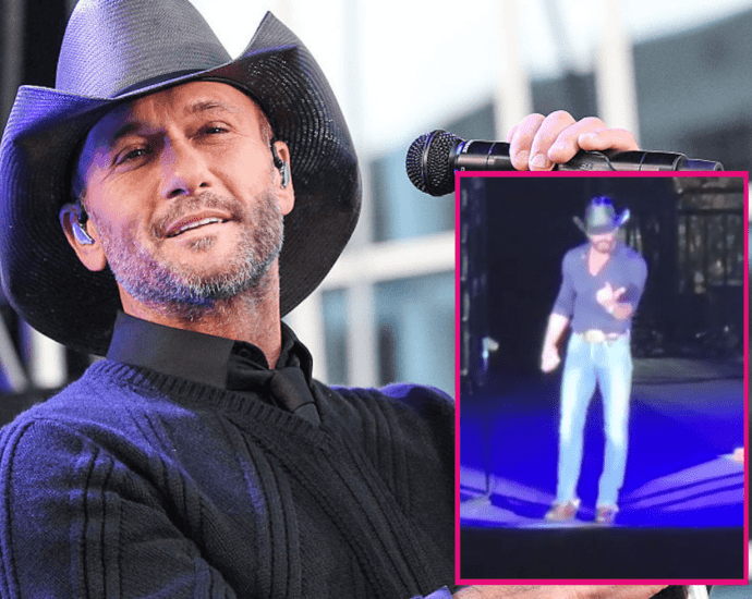 Watch Tim McGraw jump off stage to confront heckler in the audience