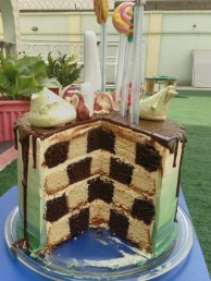 kitan's checker board cake
