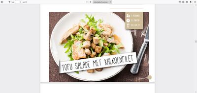 Tofu salade met kalkoenfilet uit de afslank receptenbijbel