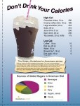 Don't Drink Your Calories Poster