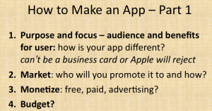How To Make An App Part One
