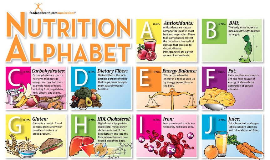 nutrition alphabet poster is up for grabs food and health