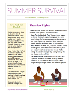 Summer Survival for Members