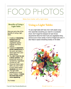 Light Table Handout