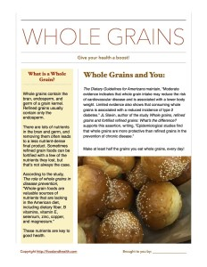 Whole Grain Handout for Members