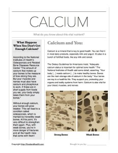 Dietary Guidelines and Calcium