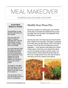 MyPlate Meal Makeover Pizza