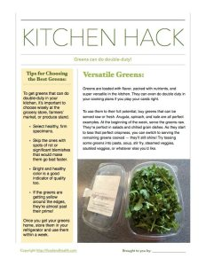 Kitchen Hacks Double Duty Greens