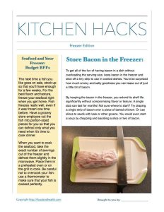 Kitchen Hacks: Freezer