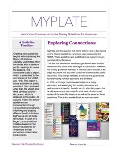 MyPlate and the DGA