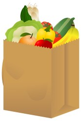grocery bag clipart food healthy