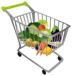 Grocery Cart Clipart