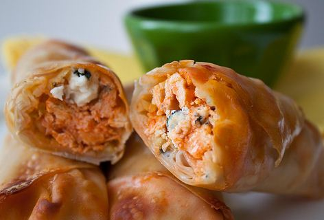 Chicken Rolls With Blue Cheese Buffalo Style (Food & Humor)