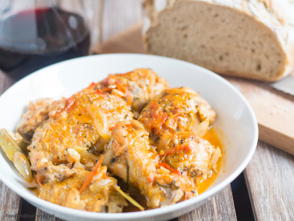 Chicken Cacciatore|foodandjourneys.net
