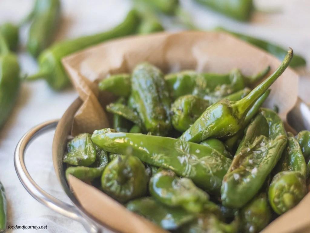 Fried Padron Green Peppers|foodandjourneys.net