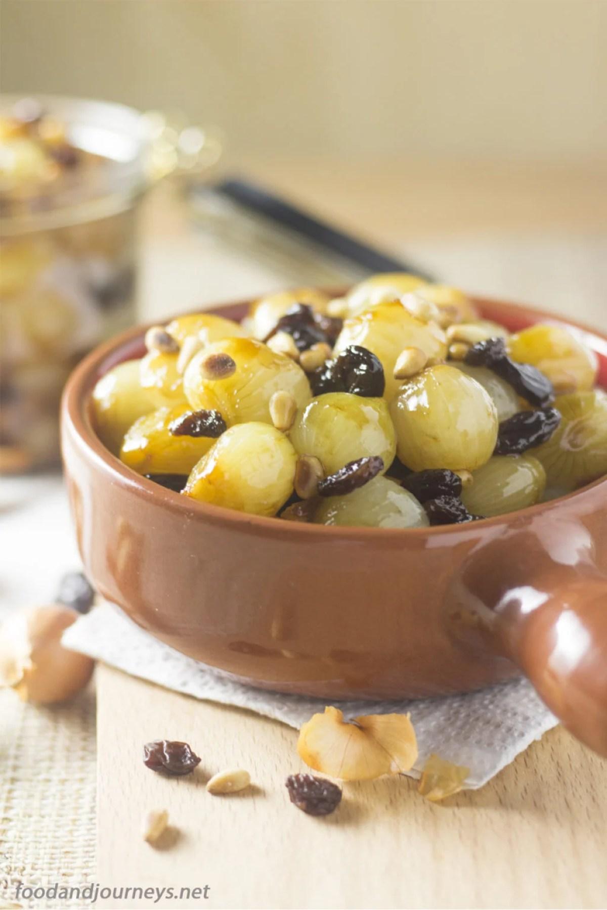 Sweet and Sour Baby Onions |foodandjourneys.net