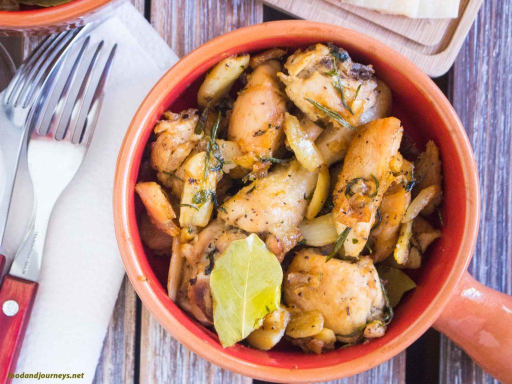 Spanish Garlicky Chicken MPIC|foodandjourneys.net