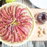 Poached Pear and Pistachio Tart
