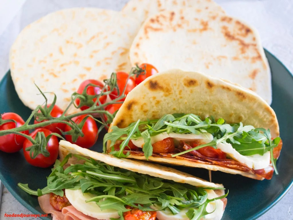 Piadina (Italian Flatbread)|foodandjourneys.net
