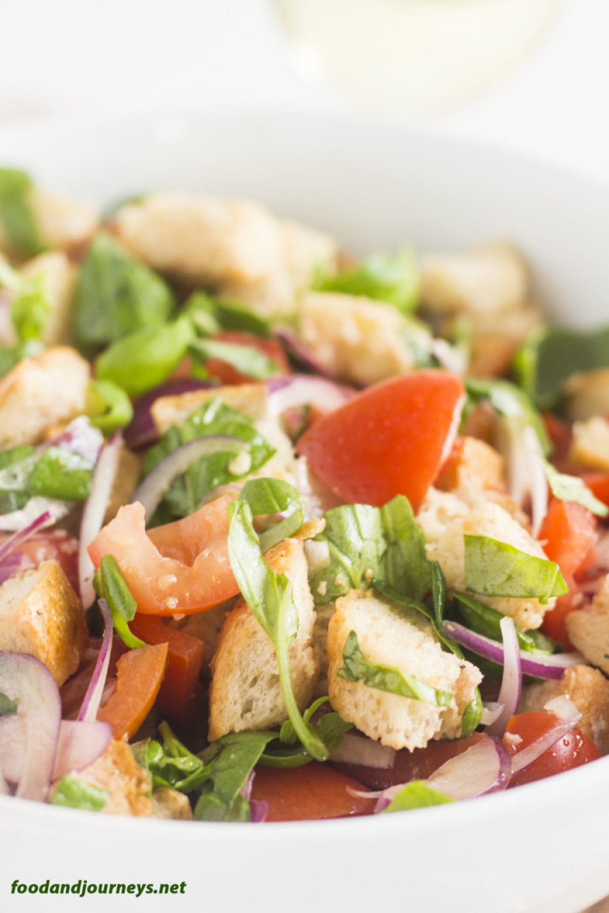 Panzanella (Bread and Tomato Salad) pic1|foodandjourneys.net