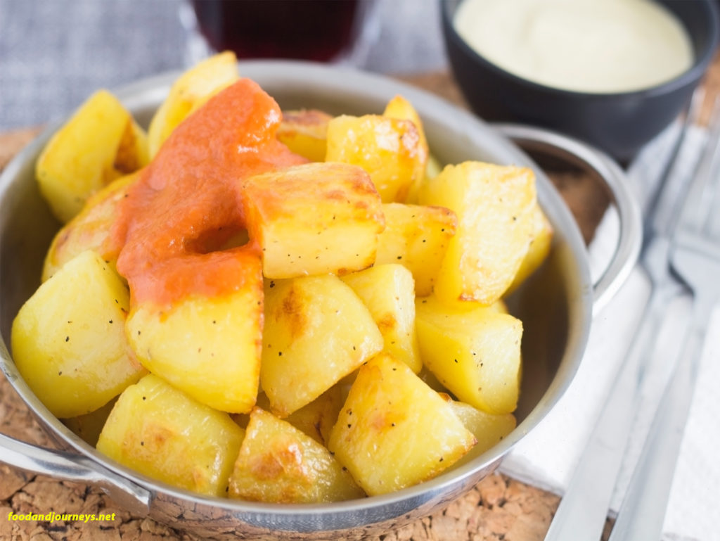 Oven Roasted Patatas Bravas|foodandjourneys.net