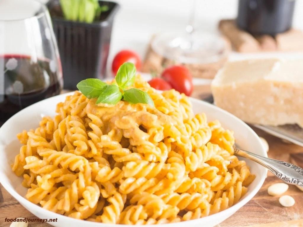 Fusilli with Pesto Trapanese
