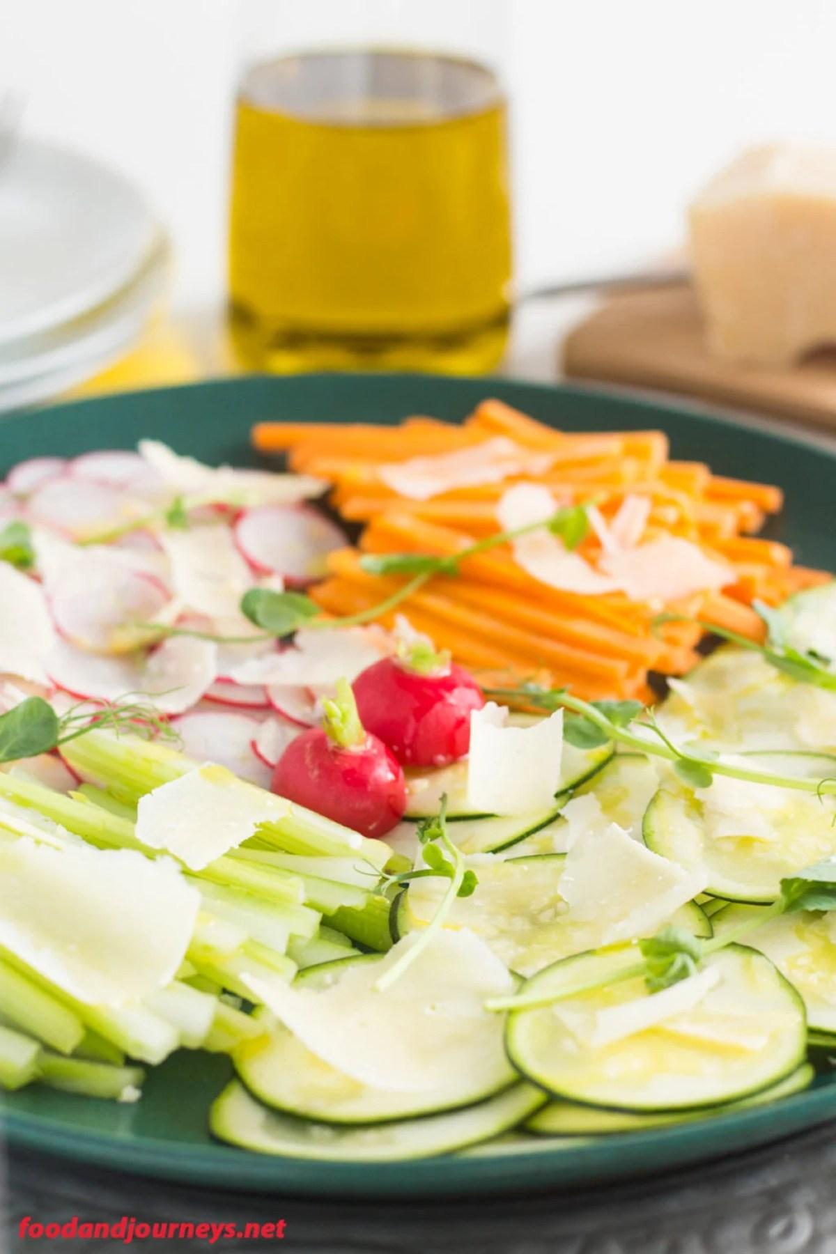 Vegetable Carpaccio with Parmesan Shavings pic1|foodandjourneys.net