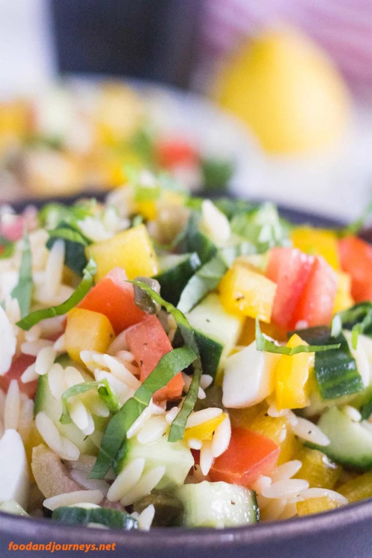 Summer Risoni Salad pic1|foodandjourneys.net