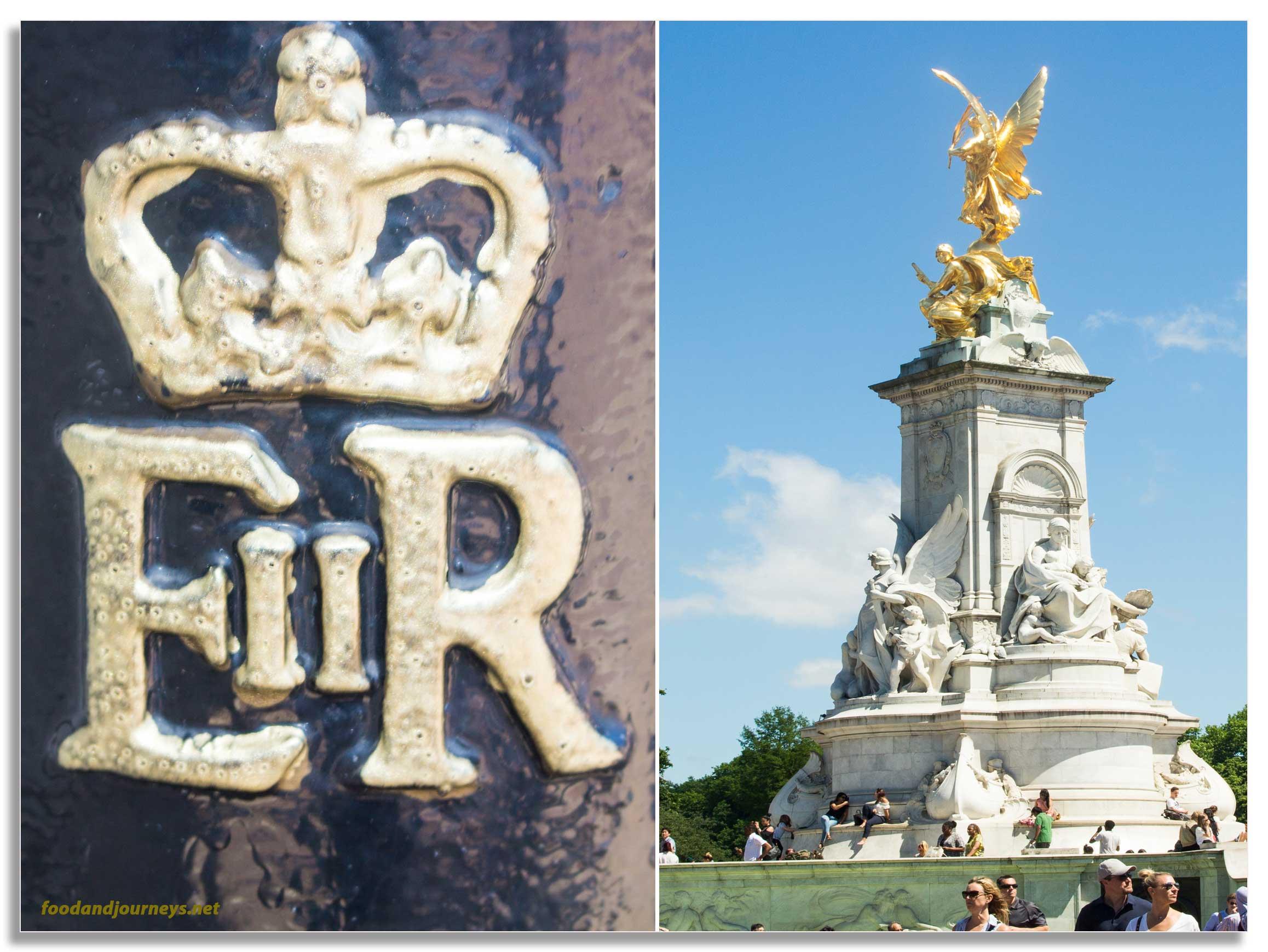 EIIR Cypher Victoria Memorial Buckingham Palace London|foodandjourneys.net