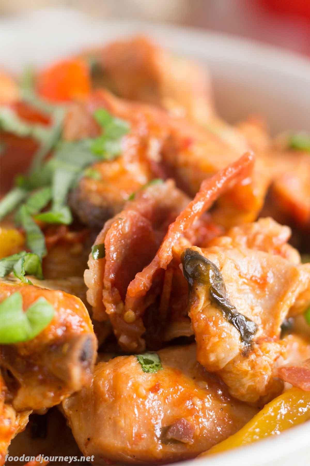 Roman Syle Chicken Pollo alla Romana|foodandjourneys.net