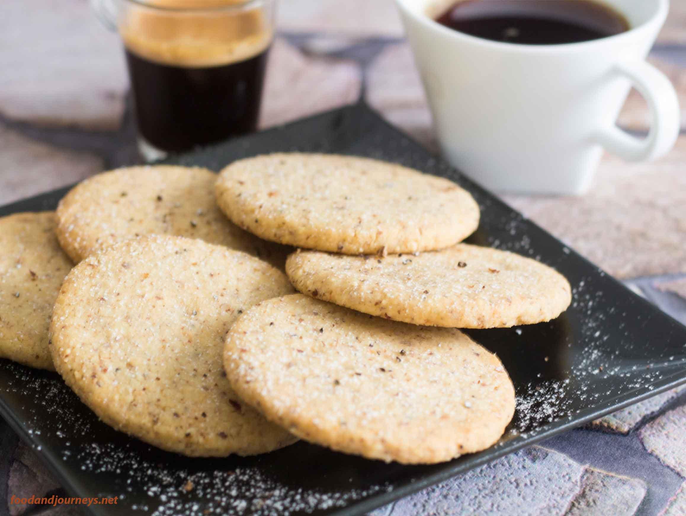 Serving of Swedish Hazelnut & Cardamom Cookies for snack