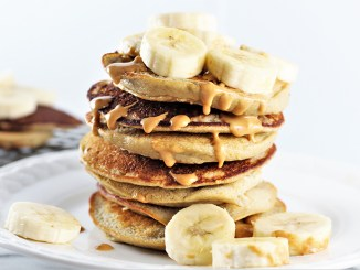 Stack of Banana Oat Pancakes