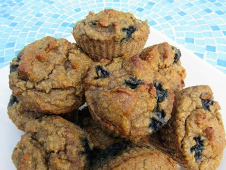 Easy & Delish Flourless Blueberry Muffins