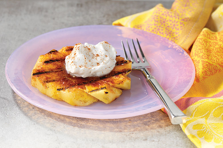 Spicy Grilled Pineapple with Coconut Whipped Cream