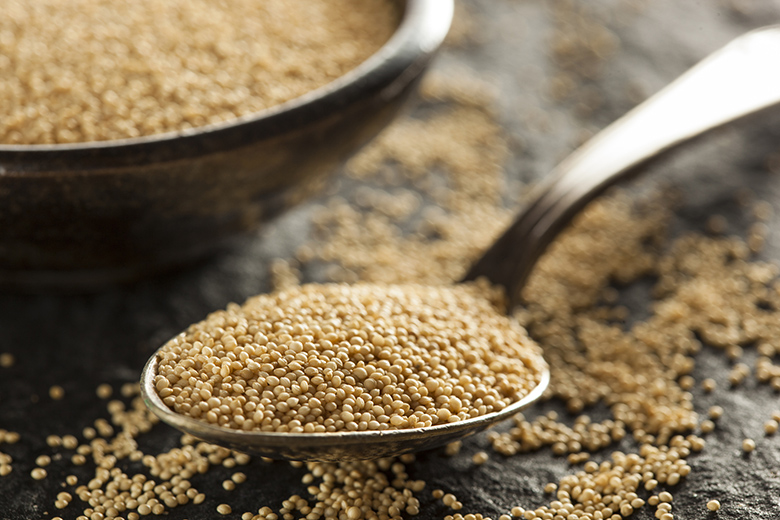 Raw Organic Amaranth Grain in a Bowl
