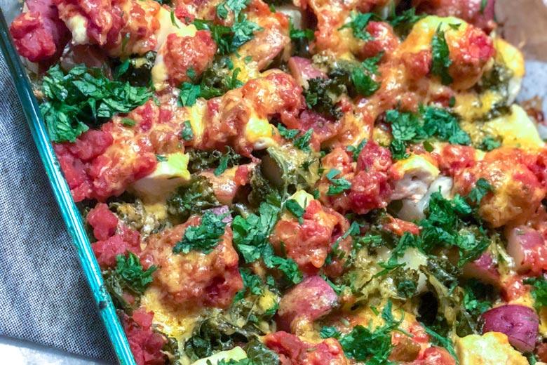 One Pan Potato Kale Salsa Chicken Food Nutrition Stone Soup