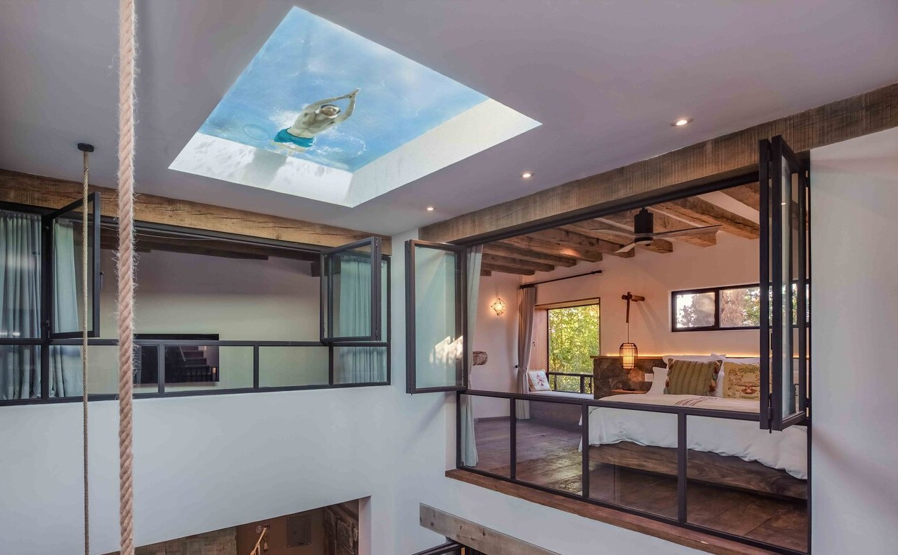 Este alojamiento con alberca en el techo está en México (y morirás por visitarlo)