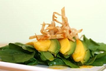 Avocado and mango salad with Tequila-lime vinaigrette